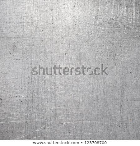 Tekstury metalu srebrny perspektywy tekstury ściany Zdjęcia stock © ssuaphoto
