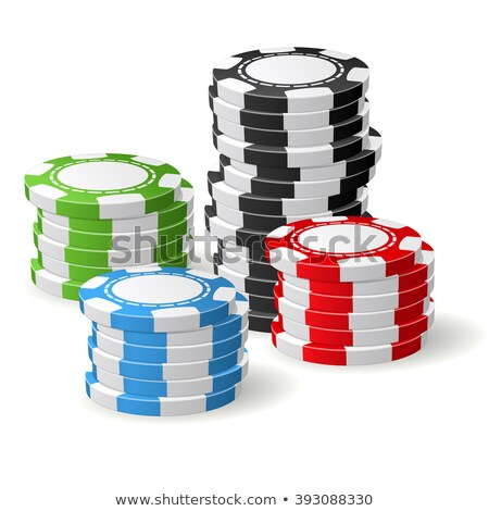 チップ · 4 · 黒 · 白 · ギャンブル · チップ - ストックフォト © winner