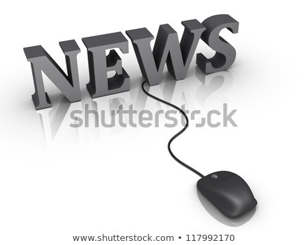 mouse with cable text news stock photo © magann