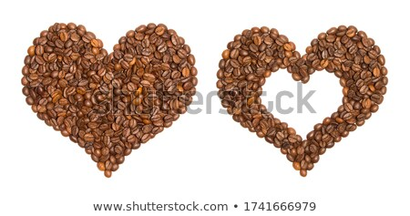 I Love Coffee - heart made of Coffee Beans stock photo © watsonimages