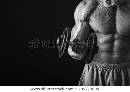 beginner · bodybuilder · poseren · witte · man · gymnasium - stockfoto © wavebreak_media