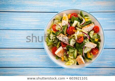チェリートマト ブルーチーズ 赤 黄色 食品 ガラス ストックフォト © Digifoodstock