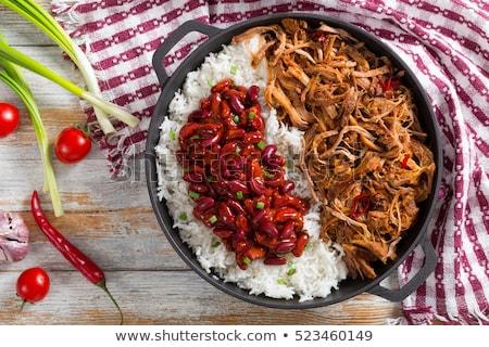 marhahús · krumpli · szeletel · hús · zöldségek · ebéd - stock fotó © digifoodstock