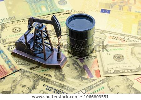 нефть баррель Мир карта Мир знак черный Сток-фото © bonathos