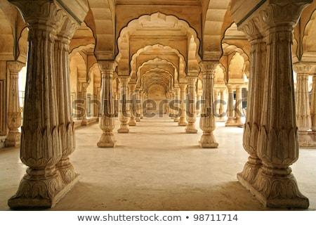 ホール 琥珀 砦 インド 壁 オレンジ ストックフォト © meinzahn