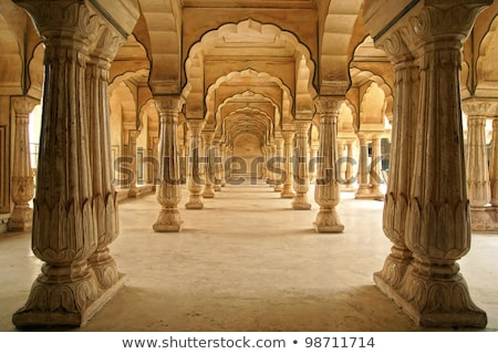 Ouvir âmbar forte Índia parede laranja Foto stock © meinzahn
