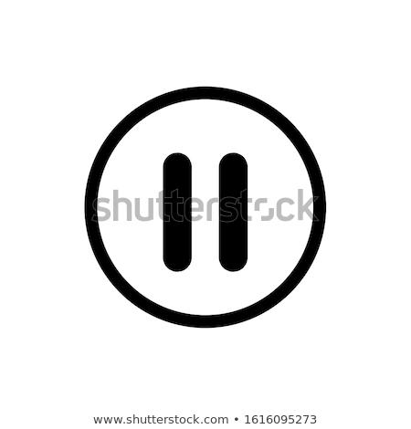 Pause symbol icons Stock photo © bluering