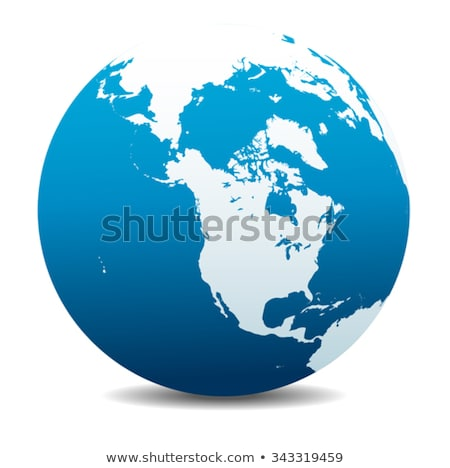 Foto stock: North America Canada Siberia And Hawaii Global World