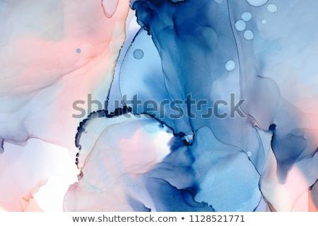 Abstract stijlvol inkt verf Blauw geïsoleerd Stockfoto © sdmix