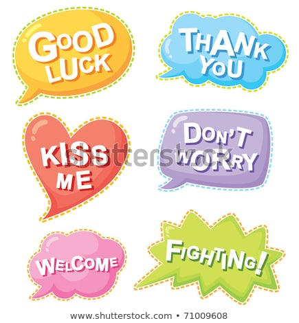 Good Luck Comic Speech Bubble Cartoon Stock photo © vector1st