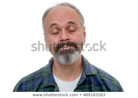 Man is waking up with acceptance on his face Stock photo © ozgur