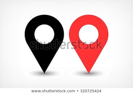 Rood kleur drop icon grijs schaduw Stockfoto © feelisgood