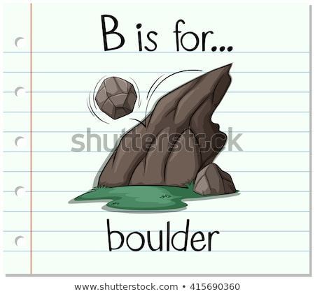 Flashcard letter B is for boulder Stock photo © bluering