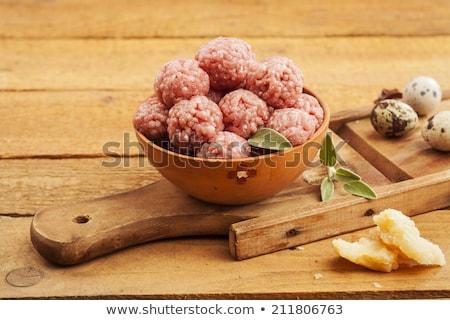 Raw minced meat patty  Stock photo © Digifoodstock