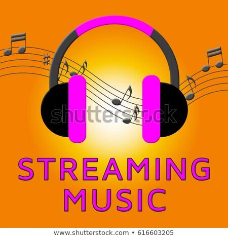 音楽 ストリーミング サウンド 放送 ハーモニー ミュージカル ストックフォト © stuartmiles