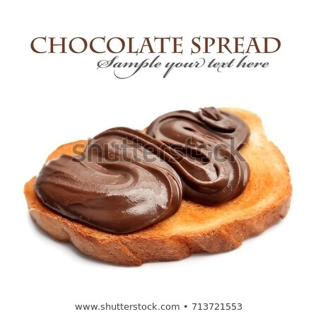 Healthy bread with Chocolate spread and nuts Stock photo © Peteer