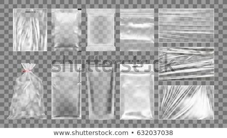 прозрачный · сумку · пусто · пластиковых · кошелька · изолированный - Сток-фото © coprid