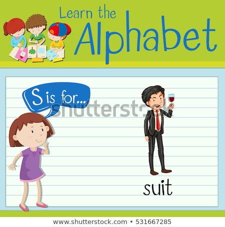 Flashcard letter S is for suit Stock photo © bluering