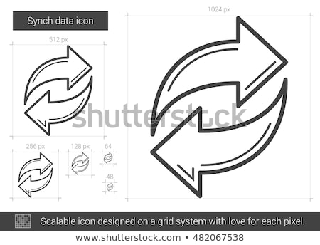 Synch data line icon. Stock photo © RAStudio