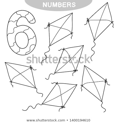 Colorful kites and numbers Stock photo © bluering