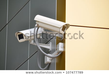 two surveillance cameras on modern building stock photo © stevanovicigor