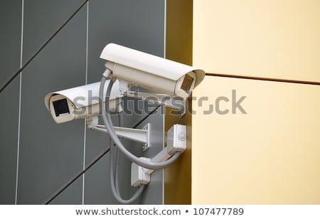 Dwa inwigilacja kamery nowoczesny budynek nieruchomości ochrony Zdjęcia stock © stevanovicigor