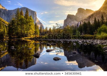Blauw rivier landschap bomen bergen Rusland Stockfoto © TasiPas