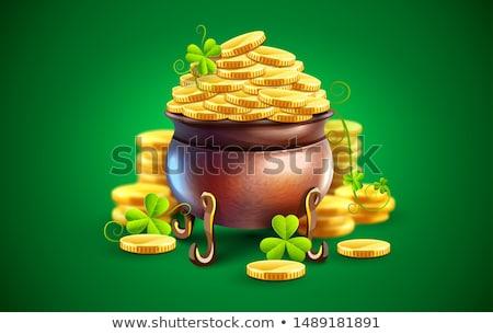 Caldeirão ouro dia ilustração metal Foto stock © Dazdraperma