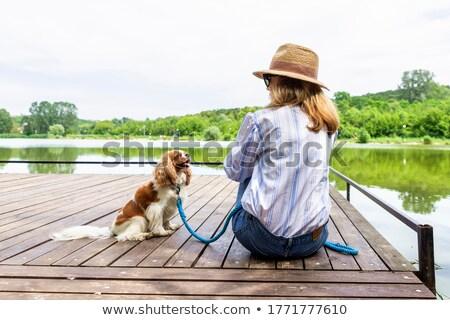woman on the pier Stock photo © ssuaphoto
