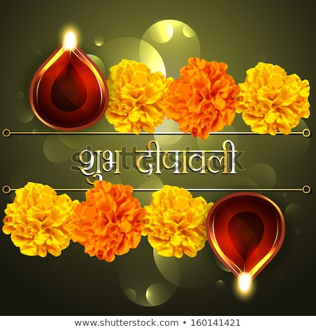 shubh diwali greeting card with paisley design Stock photo © SArts