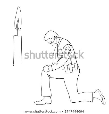 Policial oração bênção padre ministro homem Foto stock © lisafx
