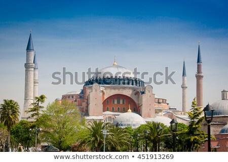 kék · mecset · Isztambul · Törökország · kilátás · híres - stock fotó © xantana