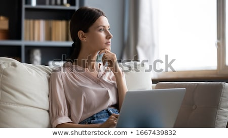 Serious Or Worried Woman Alone Stock photo © dtiberio