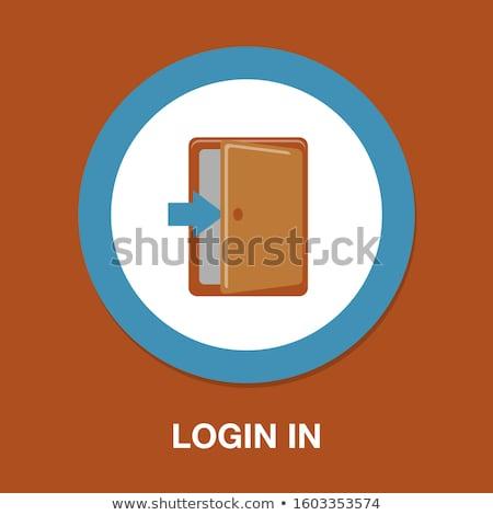 Computador segurança trancado moderno laptop projeto Foto stock © oblachko