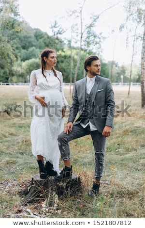 pregnant woman romantic portait photo stock photo © artfotodima