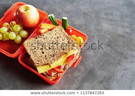 Schaatsen gezonde voeding verse groenten vol vitaminen geïsoleerd Stockfoto © Fisher
