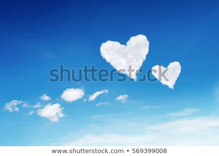 Photo of a Cloud-shaped heart on the sky stock photo © rufous