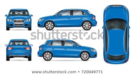 Blauw · auto · snelheid · Maakt · een · reservekopie · verkeer - stockfoto © tito