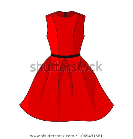 Black designer dress with red belt Stock photo © gsermek