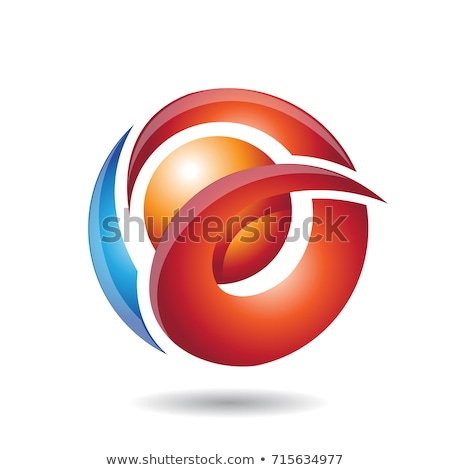 Abstract Symbol of Letter A, O or Q with a Pearl Icon Stock photo © cidepix