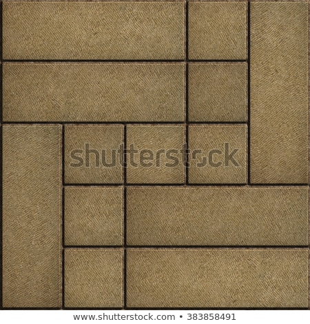 Texture of Rectangular Sand Color Paving Slabs. Stock photo © tashatuvango