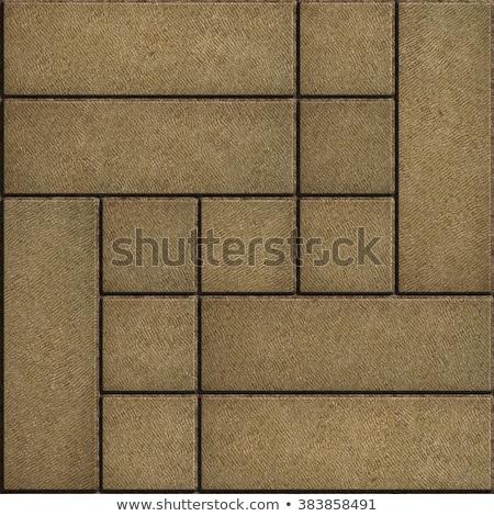 texture of rectangular sand color paving slabs stock photo © tashatuvango
