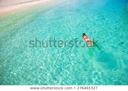 girl in bikini snorkelling in tropical sea stock photo © kzenon