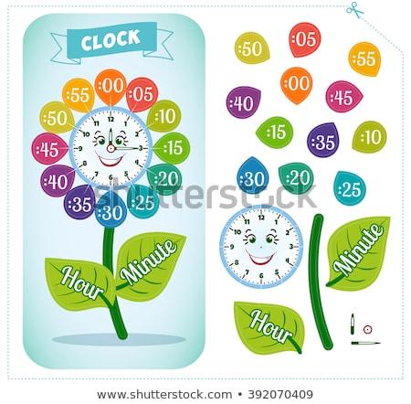 Clock sticker game for children  Stock photo © Olena
