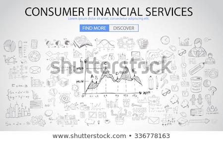 szolgáltatás · vezetőség · firka · terv · rajzolt · sötét - stock fotó © tashatuvango