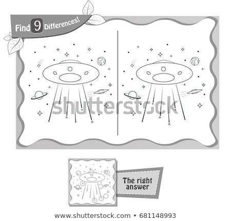 Játék fekete talál különbségek UFO gyerekek Stock fotó © Olena