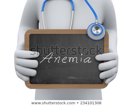Chalkboard with Anemia. 3D Illustration. Stock photo © tashatuvango