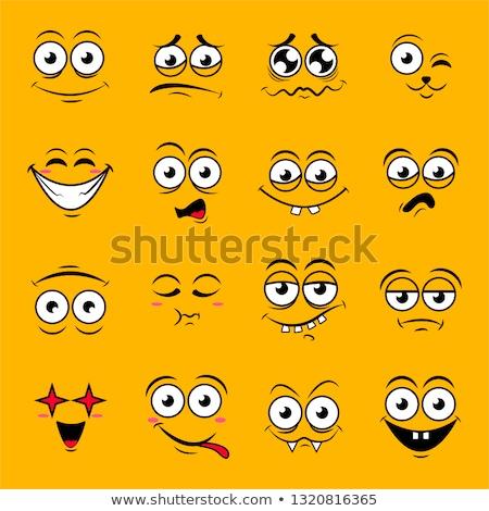 łzy radości funny twarzy człowiek miłości komiks Zdjęcia stock © rogistok