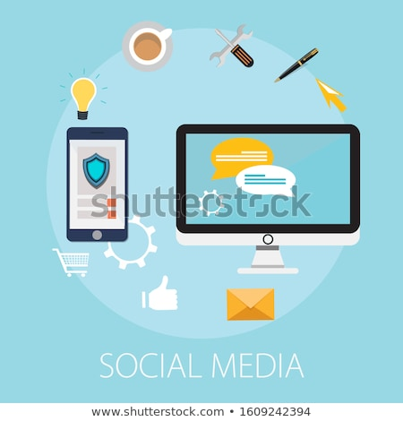 Community, network and social icon design template Stock photo © Ggs