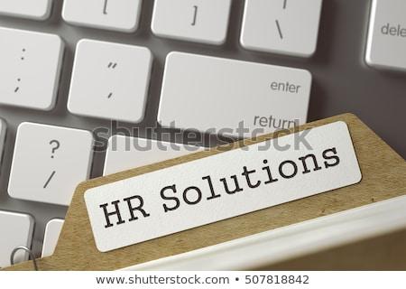Sort Index Card with HR Solutions. 3D. Stock photo © tashatuvango